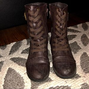 Shoes - Brown Combat Boots